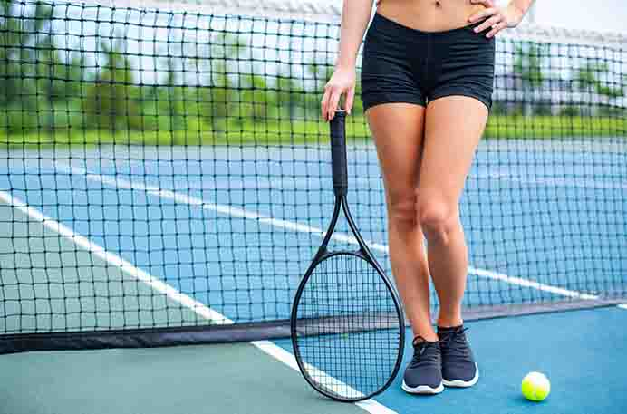 Exercise by play Tennis