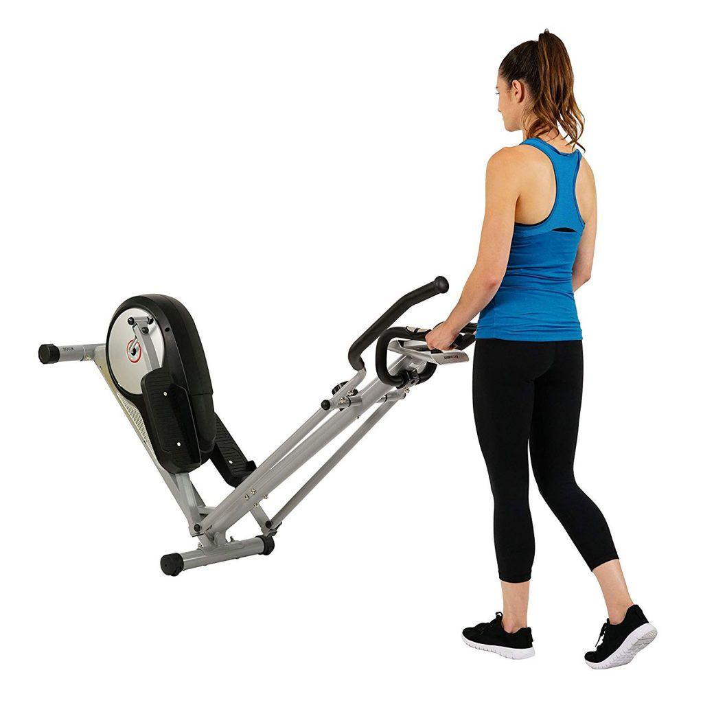 EFITMENT Magnetic Elliptical Machine Trainer w LCD Monitor and Pulse Rate Grips - E006