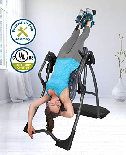 Teeter FitSpine LX9 Inversion Table, 2019 Model,Back Pain Relief Kit