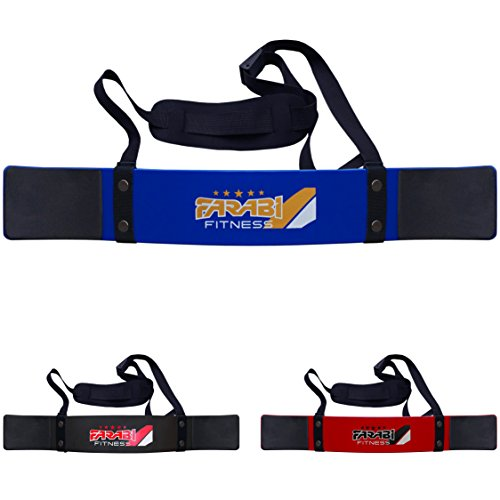 Farabi Fitness Weightlifting Arm Blaster Biceps Isolator Gym Support Straps Wraps