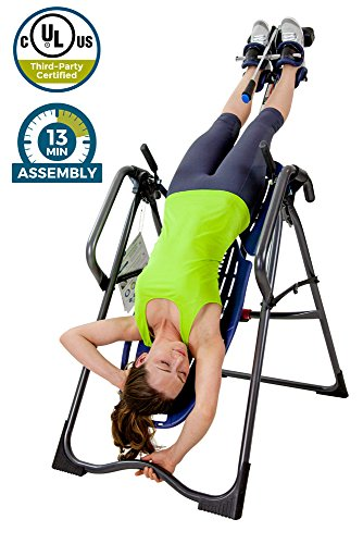 Teeter EP-970 Ltd. Inversion Table, Deluxe Easy-to-Reach Ankle Lock, Back Pain Relief